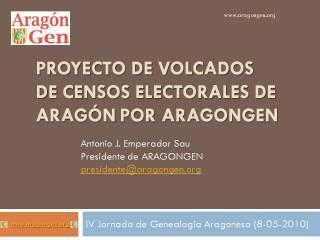 Presentación del proyecto de volcado de censos de Aragón