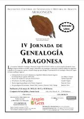 Cartel de la IV Jornada de Genealogía Aragonesa