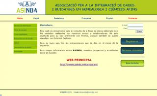Imagen de la página web de ASINDA