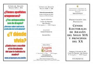 Tríptico de la presentación del proyecto (anverso) 15-06-2012