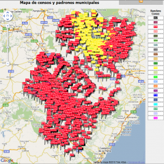 Mapa de censos volcados
