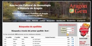 Web pública del proyecto de censos de ARAGONGEN